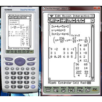 Calculadora Para Casio Classpad 300 Aprende Matemáticas *tm*