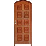Porta Madeira Pa 105 Torneada 210x80 Completa Arco Esquerda