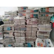 Jornal Velho 10 Kilos Folhas Grandes E Limpas Sem Revistas