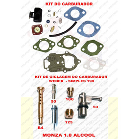 Kit Carburador Monza 1.8 Alcool Weber Simples 190