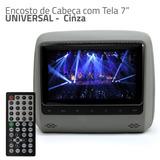 Cabeceira Encosto Cabeça C/ Tela 7 Entrada Audio E Video