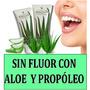 Pasta Dental Sin Fluor Con Aloe Vera Y Propóleo 100% Natural