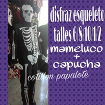 Disfraz Esqueleto Oferta Halloween Local Talles Fantasma