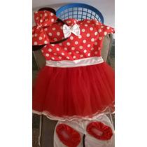Disfraz De Minnie Talle 2 Nuevo!!!!!