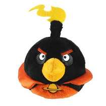 Angry Birds Space Preto Pelúcia 12cm Licenciado Commonwealth