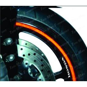 Friso Faixa 5mm Adesivo Refletivo Roda Fita Moto Carro Honda