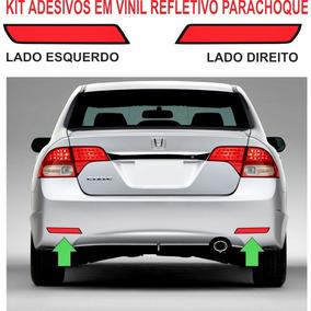 Acessorios Adesivo Refletivo Parachoque Honda Civic Kit