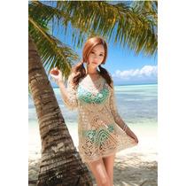 Salida De Baño Malla Vestido Playa Piscina Pareo Bikini