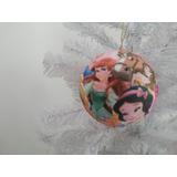 Bola De Natal 8 Cm Princesas Disney (4 Unidades)