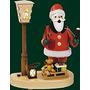 Decoración Fumar Alemán Figura De Papá Noel Con La Linterna