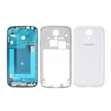 Carcaça+aro Cromado Samsung Galaxy S4 Gt-i9505 4g Branca