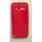 Capa De Silicone Vermelho Para Celular Lg Gx200 2 Chip