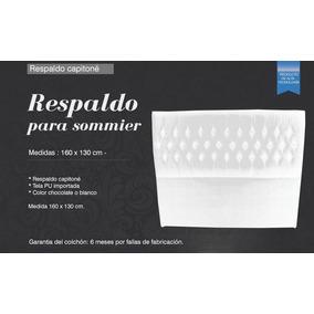 Respaldo Para Sommier (1,60 Cm) Capitone Blanco