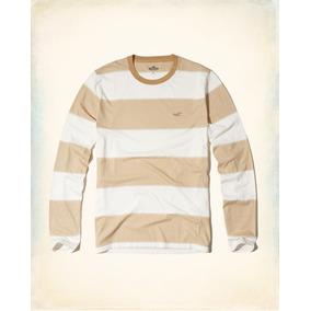 Hollister Camiseta Cuello Reondo Rayas Talla M Originales