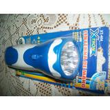 Gcg Lampara Linterna De Mano Recargable De 4 Leds Azul