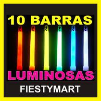10 Barrasneon Cyalume Fiesta Dj Xv Boda Batucada Lente Luz