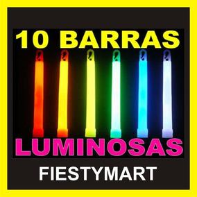 10 Barras Neon Cyalume Fiesta Dj Xv Boda Batucada Lente Luz