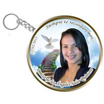 Chapa Llavero Recuerdo Difunto Aniversario Precio X 12 Und.