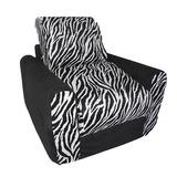 Diversión Muebles Silla Sleeper - Negro Zebra