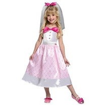 Disfraz Para Niña Traje De Novia Barbie, Pequeño