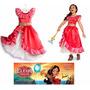 Fantasia Vestido Nova Princesa Elena De Avalor Disney T=5/6