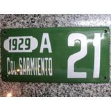 Chapa Patente Enlozada Colonia Sarmiento Chubut 1929 Patagon