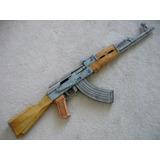 Arma Ak47 Pistola (papel) Rifle Realista Airsoft Tamanhoreal