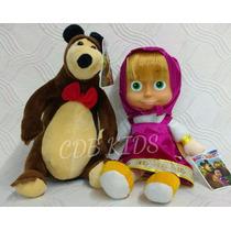 Boneca Masha 30 Cm E O Urso Pelúcia Musical 22 Cm
