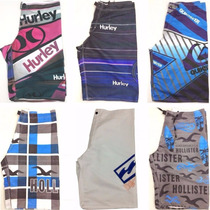 Kit Com 4 Bermudas Quick Silver Billabong Oakley Hurley.