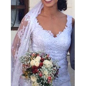 Vestido De Noiva Semi Novo - Impecável