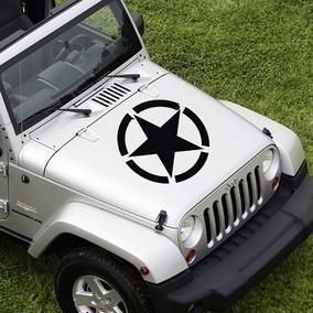 3 Calcomanías Stickers Estrella Autos Jeep Star Militar