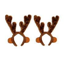 Astas Del Reno Diadema - Traje Antlers - Paquete De 2 Por P