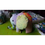 Muñecos De Tela Artesanales Pintados A Mano, Elefante!!