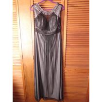 Vestido De Noche Negro / Gris / Plata