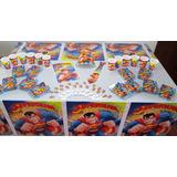 Decoración Fiesta Infantil - Superman (10 Artículos)