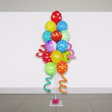 Suporte Varetas Que Imitam Gás Hélio Com 20 Balões Bexigas