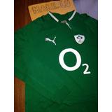 Camisa Rugby Irlanda Irfu Sample Mangas Longas Puma Rara
