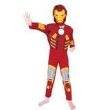 Fantasia Infantil Homem De Ferro Luxo Com Peitoral