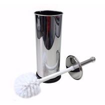Escova De Banheiro Para Vaso Sanitario Com Suporte Em Inox