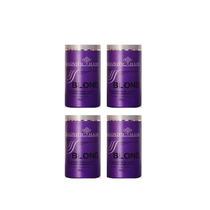 4 Unidade Pó Magnific Hair 500g Roxo + Pente Profissional