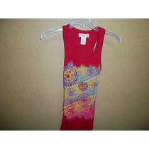Blusa Casual Roja Estampada Ocean Pacific Op Talla Xs 30