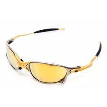 Oculos Doublex 24k - Lentes Gold 100% Polarizadas Novo