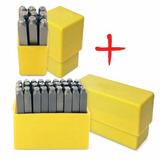 Kit Marcador Punção Alfanumérico Letras Números 36 Peças 6mm