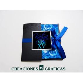 Tarjetas Invitaciones 15 Años Originales Tríptico