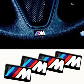 4 Mini Emblema Bmw M Motorsport Volante Rodas M3 M5 X1 X5 X6