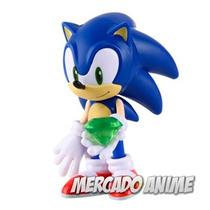 Boneco Sonic Articulado Sega E Acessórios - Frete Grátis!!