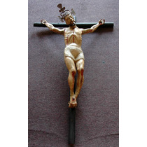 Cristo De Caña De Maiz Sxvii Mexicano Colonial Antiguo