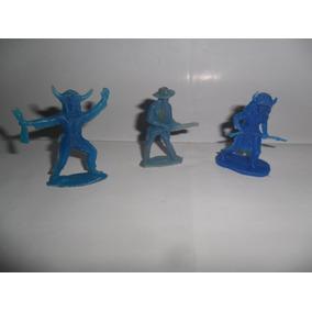 Antiguo Muñeco Azul Vaquero Cowboy Indio Brujo Guerrero