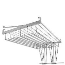 Varal Mazzonetto 120cm X 10 Varetas Alumínio Polido