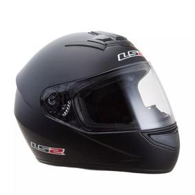 Casco Ls2 Ff350 352 Integral Single Negro En Freeway Motos